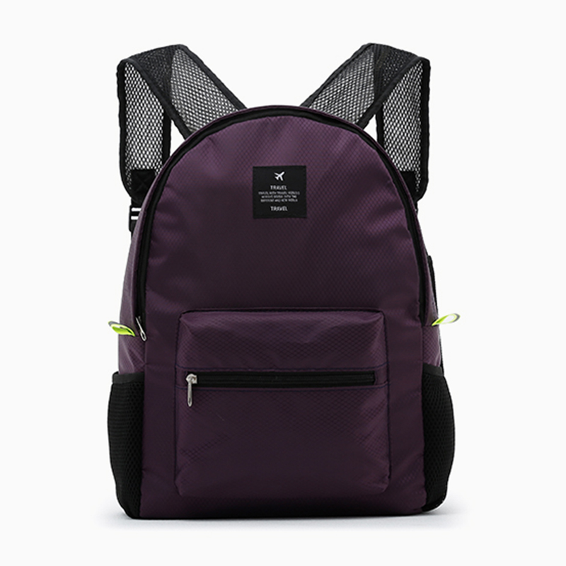 New 5 Colors Women Men Folding Backpack Waterproof Nylon Ladies Hand Backpacks Casual Travel Bag School Bags Wholesale