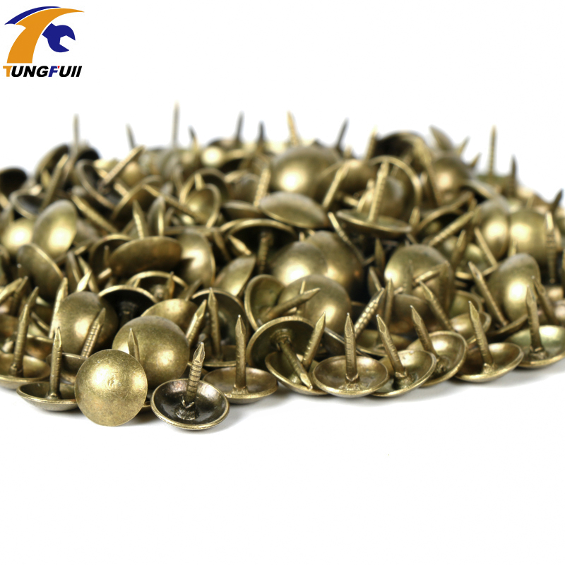 100pcs 9x9mm Antique Brass Bronze Upholstery Nail Jewelry