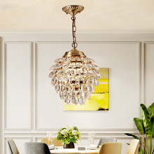цены на Modern Crystal Copper LED Pendant Lights Dining Room Light Stair Aisle Pendant Lamp Art Loft Luminaire Fixture Bedroom Hanglamp  в интернет-магазинах