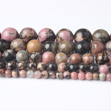 LIngXiang Natural jewelry 4/6/8/10/12mm Rhodochrosite loose beads DIY Mens and womens bracelets necklaces accessories