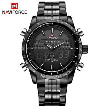 NAVIFORCE Men Watches Full Steel Men's Quartz Hour Clock Analog LED Digital Watch Sports Military Wrist Watch Relogio Masculino - DISCOUNT ITEM  90% OFF All Category