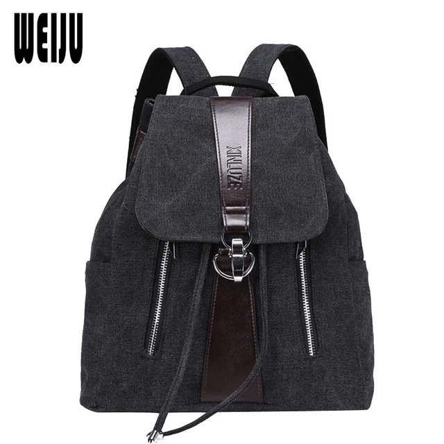 Canvas Women Backpacks 2017 New Fashion Korean Vintage Travel String Backpack High Quality School Casual Bag Female YA0512