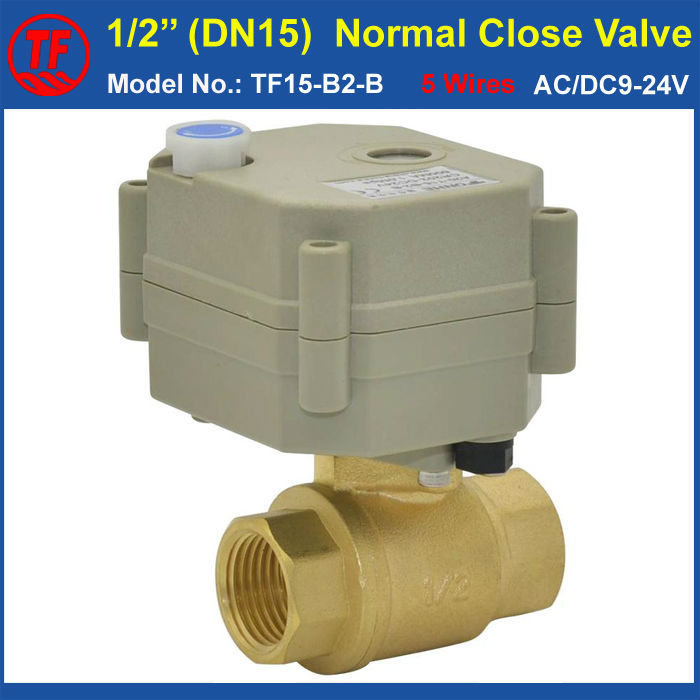 ФОТО TF15-B2-B Brass DN15 Normal Open Valve With Manual Override BSP/NPT 1/2'' AC/DC9-24V 2 Wire Non-Spring Return For Water Control
