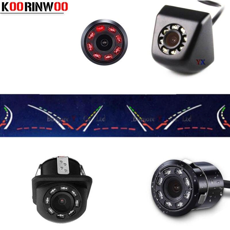 Univeral Koorinwoo Dinâmico Sistema de Estacionamento Trajetória 8 IR Luzes de Visão Noturna Câmera de visão Traseira Do Carro de Backup Reversa Câmera de Vídeo
