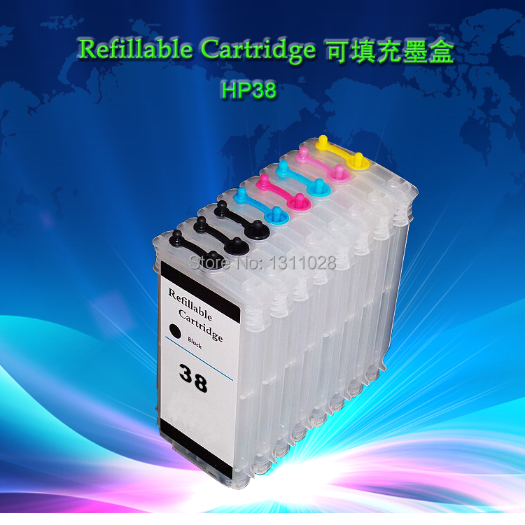 8 PCS 80ml Empty Refillable ink cartridge WITH CHIP, ink refill kit for HP38 suitable  for B9180 D9180 pgi 470 471 refill ink kit printer ink refillable empty cartridge with refill tool for canon pixma mg6840 mg5740 ts5040 ts6040