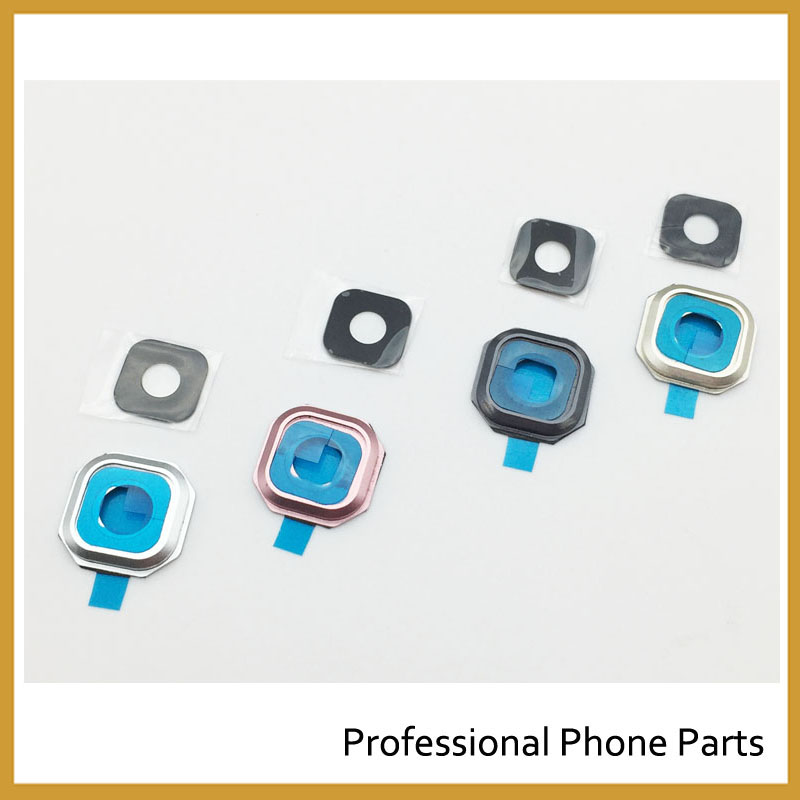 2 Pcs, Back Rear Camera Lens Glass Cover with Frame Holder For <font><b>Samsung</b></font> Galaxy A9 A3 A310 A310F A5 A510 <font><b>A510F</b></font> A7 A710 A710F 2016 image