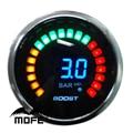 "3PCS Original Logo 52mm 2"" 20 LCD Digital Bar Turbo Boost Auto Gauge for Car With Stepper Motor"