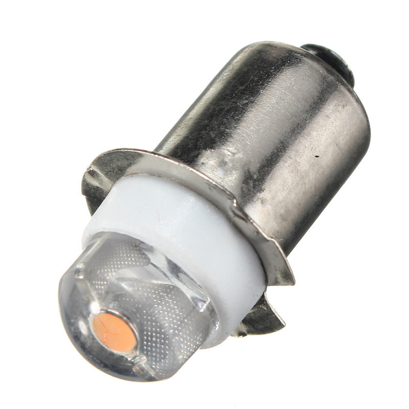 Newest P13.5S PR2 0.5W LED For Focus Flashlight Replacement Bulb Torches Work Light Lamp 60-100Lumen Pure Warm White DC3V 6V image