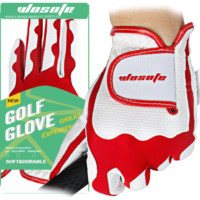 1pair Golf Gloves Outdoor Sports Golf Clubs Trainning Gloves soft Fabric For women left and right hand free shipping