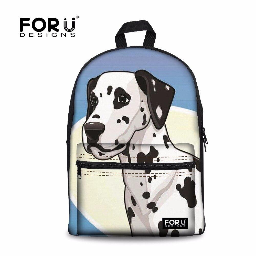 FORUDESIGNS School Bags Children Backpacks for Girls Dalmatians Printing Backpack Schoolbag Teenage School Satchel Kids Bag 2018