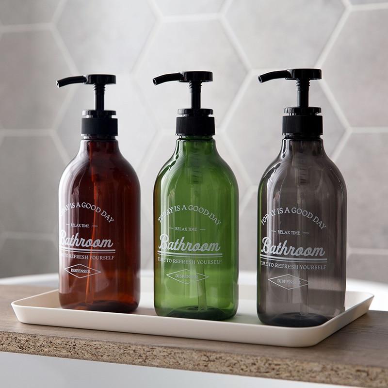 Soap Dispensers Bottled Shampoo Shower Gel Hand Lotion Bottle Pressed Type Plastic Bottles For Bathroom Accessory Mx12131445