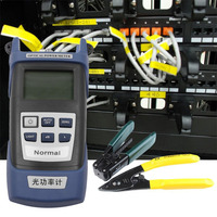 Practical Fiber Optic FTTH Tool Kit with FC 6S Fiber Cleaver and Optical Power Meter 5km Visual Fault Locator Fiber Stripper