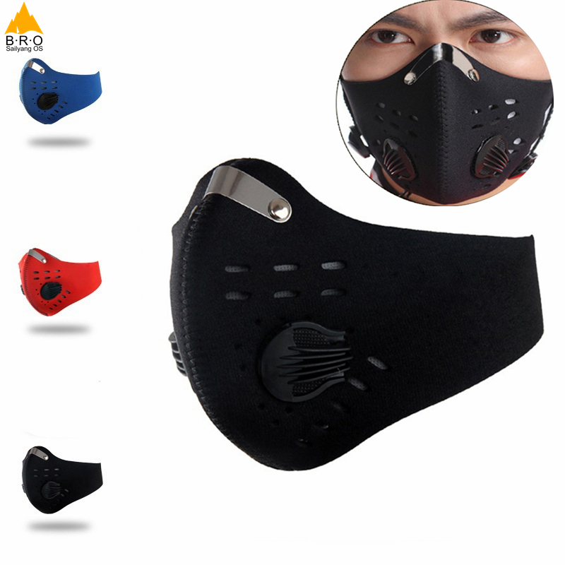 Activated Carbon Dust-proof Cycling Face Mask Men Women Anti-Pollution training Bicycle Bike Outdoor Running mask face shield