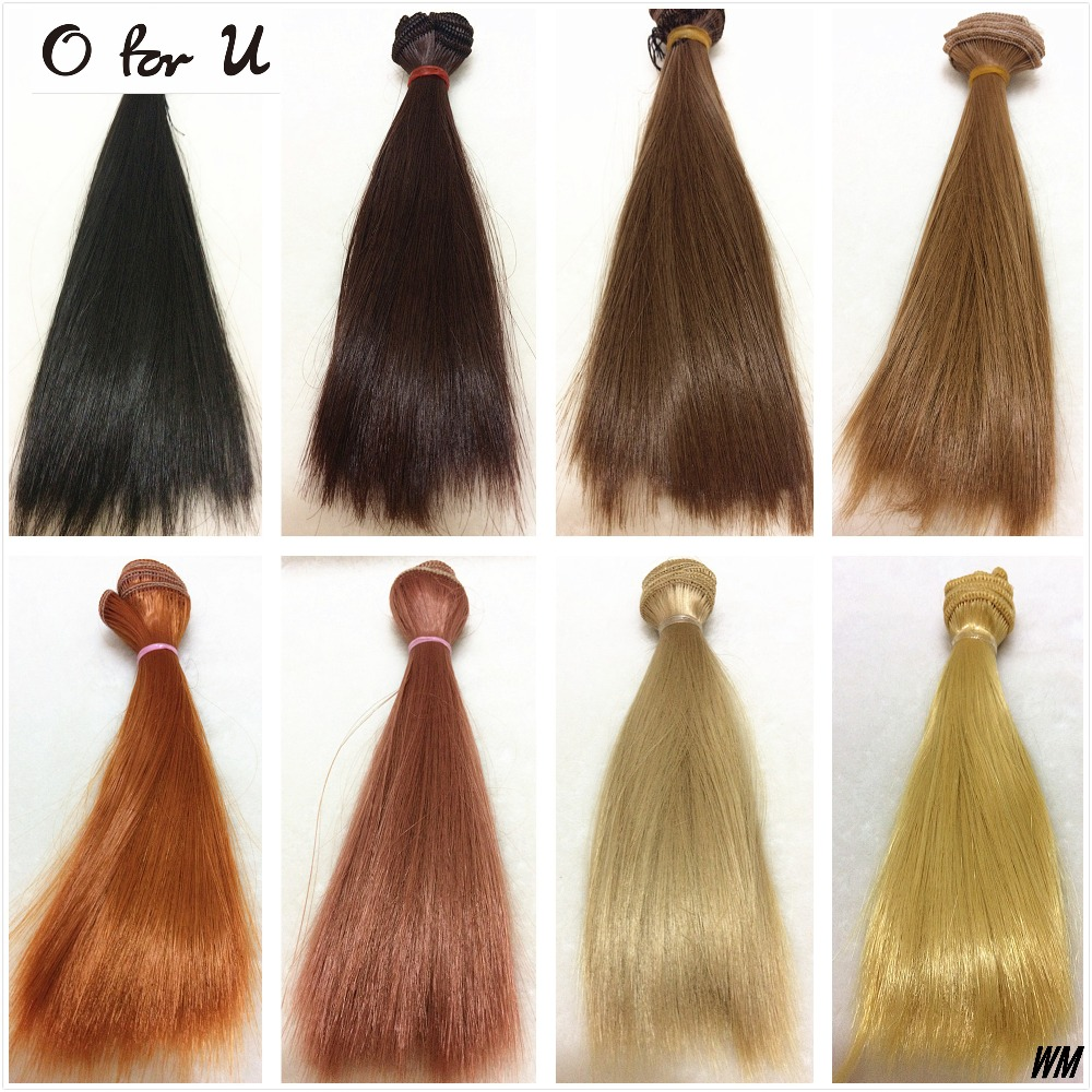 O for U 20PCS/LOT Wholesale Free Shipping 15/25 CM DIY Handmade Straight Doll Wig Hair Black Brown Blond 1/3 1/4 BJD Dolls Wigs fashion black hair extension fur wig 1 3 1 4 1 6 bjd wigs long wig for diy dollfie