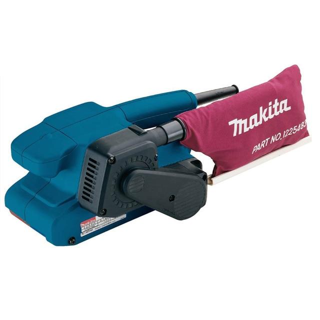Машина шлифовальная ленточная Makita 9910 (Крепление для стационарного использования, фиксация кнопки включения)