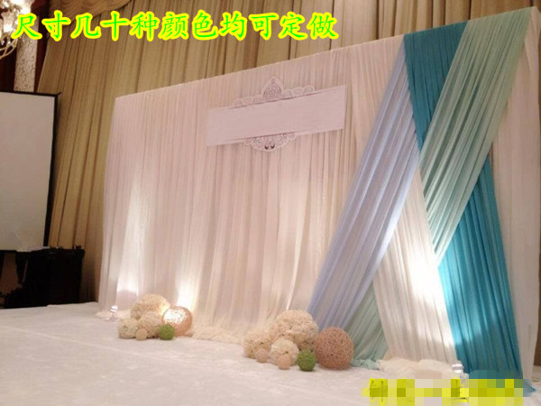 Curtains Ideas cover walls with curtains : Aliexpress.com : Buy gauze drapes for wedding party stage ...