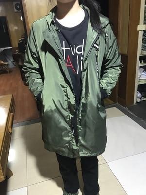 Trench coat Womens 18 Spring Autumn Hoodies top Plus size Slim Students Baseball clothes Medium length Windbreaker Coats A1934 22