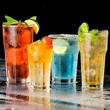 6 pièces en plastique bière tasses Transparent boisson gobelets résistant à la rupture potable réutilisable Restaurant gobelet jus thé Bar fête
