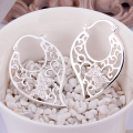 E414 925 silver earring hooks& Stamped 925 jewelry cute butterfly link hollow sweet heart white stone earrings for women wedding
