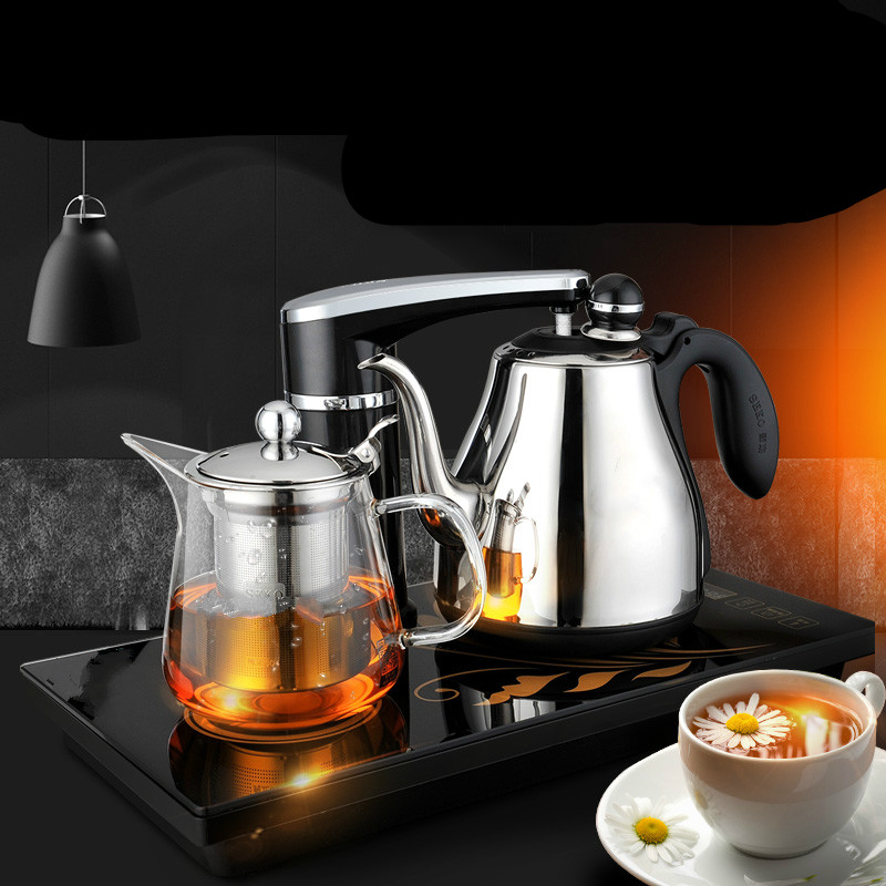 Fully automatic water electric kettle set 304 stainless steel heat preservation tea stove Anti-dry Protection automatic upper water electric kettle pump 304 stainless steel tea set