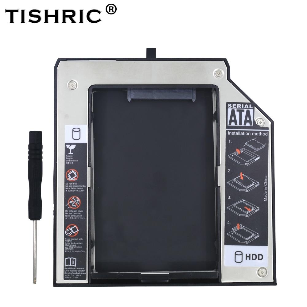 "TISHRIC Aluminum 2nd HDD Caddy 12.7mm SATA 3.0 2.5SSD HDD DVD Case Enclosure For Lenovo ThinkPad T420 T430 T510 T520 Optibay адаптер оптибей 9 5 mm optibay hdd caddy sata minisata slimsata для подключения hdd ssd 2 5"" к ноутбуку espada ss95"