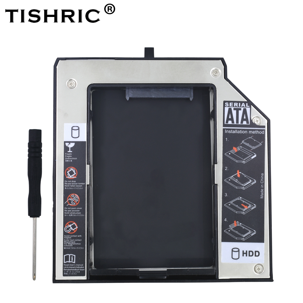 TISHRIC Aluminum 2nd HDD Caddy 12.7mm SATA 3.0 2.5