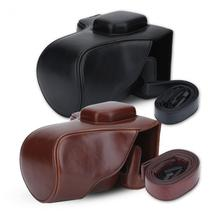 2Colors PU Leather Camera Case Bag Accessory for Fujifilm X-T10 / XT20 16-50/18-55/23mm Lens Cases Bags