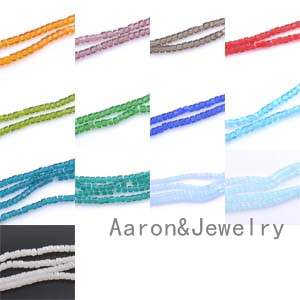Glass Crystal Flat Square Faceted Loose Spacer Beads For Jewelry making 6mm about 100pcs TRS0169-6