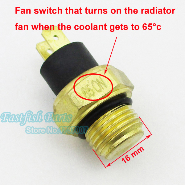 M16 Radiator Thermal Fan Switch Thermostat For 250cc Water Cooled Atv Quad Scooter Motorcycle