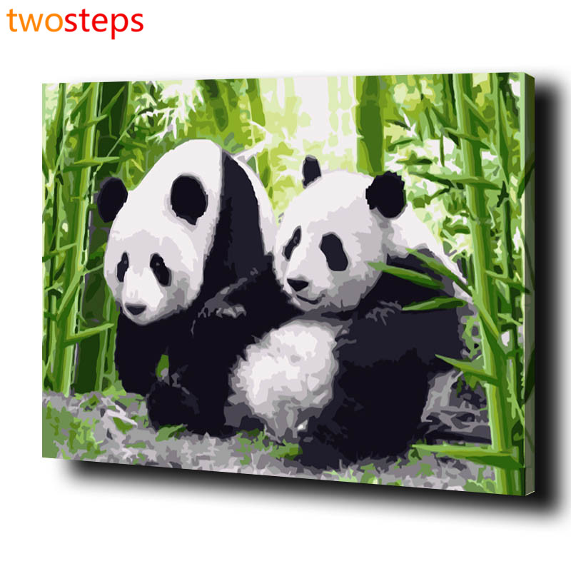 TwoSteps Bamboo Panda DIY Digital Canvas Oil Painting By ...