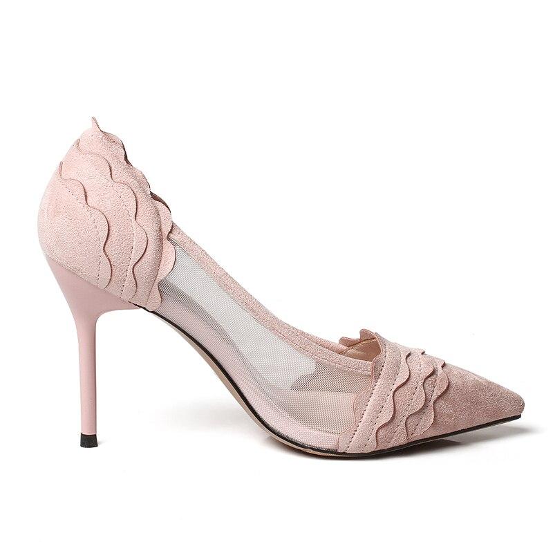 Cm dark 6cm Suede Women s Green dark Pointed pink Shallow High Sandals pink  Cm Cm heeled Mesh Fine 6cm black 9 Black Shoes ... 0ffc3a617672