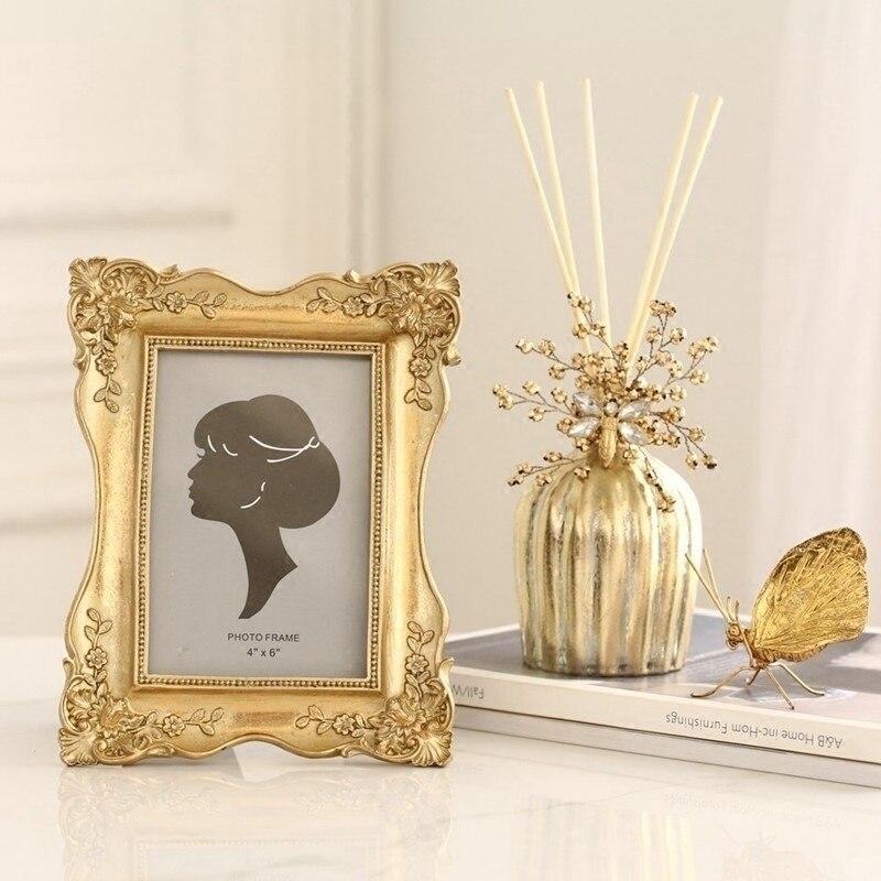 Light luxury elegant palace princess wind retro Phnom Penh carved six-inch European photo frame