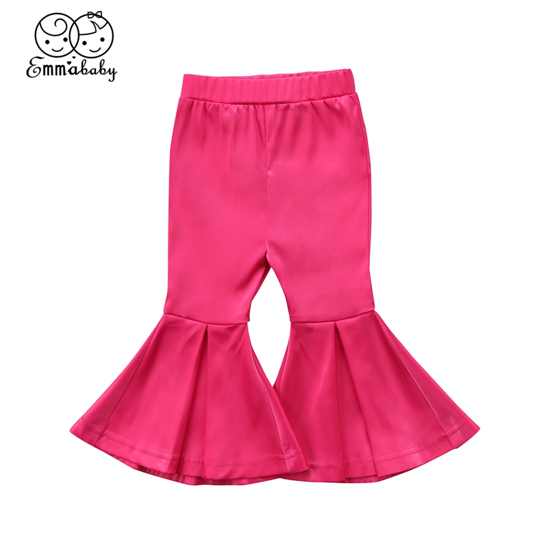 2-7T Toddler Kids Girls Soft Bell Bottoms Stretch Flare Pants Boho Boot Cut High Waist Fashion Trousers