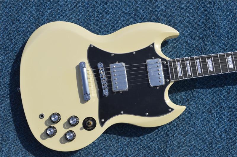 Free Shipping New guitarra SG electric guitar custom shop of OEM yellow ebony fretboard guitarra / guitar China new arrival sg electric guitars chrome bigsby chinese guitarra electrica free shipping