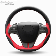 цена на Shining wheat Black Red Leather Hand-stitched Car Steering Wheel Cover for Mazda 6 Atenza 2009-2013
