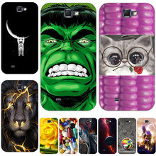 60 Style Cat Cases For Samsung Galaxy Note 2 II Note2 N7100 5.5 inch NOTE2 Cases Hard Back Cover Skin Hood Bags(China)