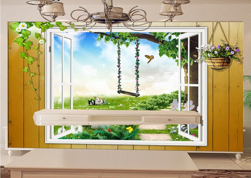 Custom 3d Photo Wallpaper 3d Wall Murals Wallpaper Hd: 3d Landscape Wallpaper Beautiful Spring Mural 3d Wallpaper