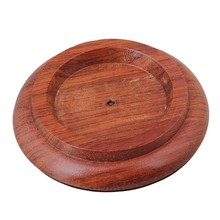 Yibuy 5.11 Inch Brown Solid Wood Piano Caster Cups Pads Antiskid Piano Accessory