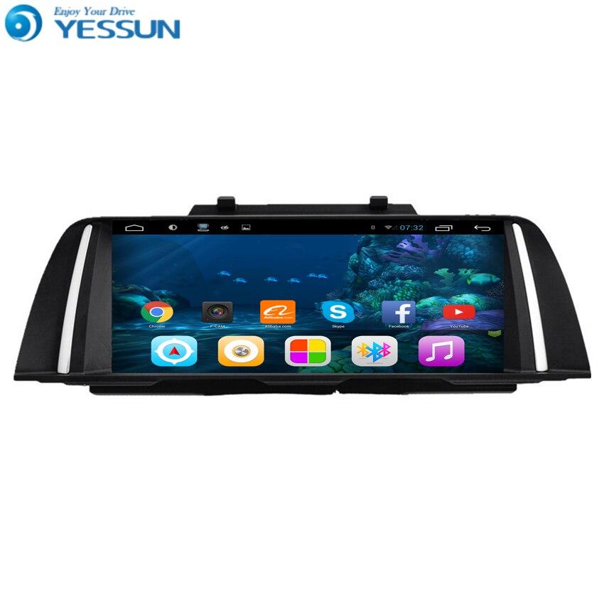 Lecteur DVD de voiture Radio Android YESSUN pour BMW F10 2011 ~ 2012 radio stéréo multimédia navigation GPS avec WIFI Bluetooth AM/FM