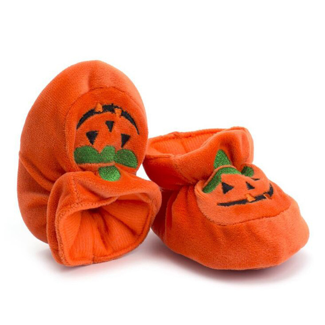 529a56c9fb951 US $4.98 40% OFF|New velvet warm non slip soft bottom baby shoes Halloween  pumpkin shoes toddler shoes-in First Walkers from Mother & Kids on ...