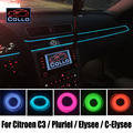9 M um conjunto fio EL / para Citroen C3 / Pluriel / Elysee / C - Elysee / carro atmosfera romântica lâmpada / Console faixa decorativa / DIY
