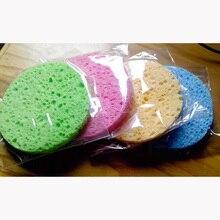 ShinBay 100pcs Naturale Pasta di Legno Spugna per il Lavaggio Pulizia Del Viso Pad Viso Cura Spugna di Cellulosa Soffio Cleaner