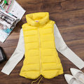 spring brand new winter vest ladies collar big yards down cotton vest women fashion outwear vestidos waistcoat 8 colors