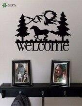 YOYOYU Wall Decal Vinyl Art Removeable Home Decor Sticker Welcome & Horse Mountains Mural Poster YO487