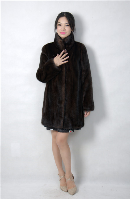 Fourrure 2015 Manteau 8043 Hiver Mode De Réel Femme Vison 80ll qffAXr6