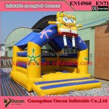 free shipping5x4x4m PVC inflatable spongebob bouncer, spongebob bounce house