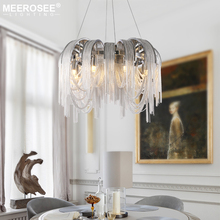 Modern Vintage Aluminum Chandelier Lighting Luxury Aluminum Chain Italian Tassel Hanging Light for Home Hotel Restaurant Lamp zx modern european large chandelier luxury fashion metal tassel led e27 pendant light for hall hotel art aluminum indoor lamp