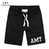 Men Casual Loose Shorts Side Letters Print Shorts Hommes Knee-length Good Quality Drawstring Short Mid Waist Boardshort Size 3XL