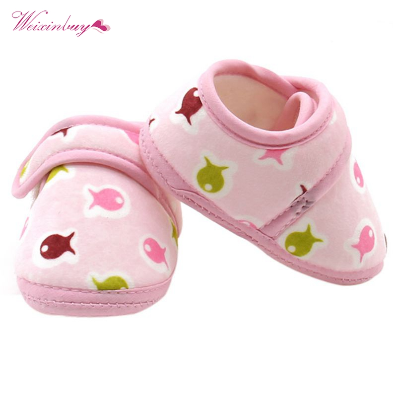 Newborn Baby Kid Cotton Crib Shoe Girl Boy Toddler Soft Sole Sneakers Shoes 2018