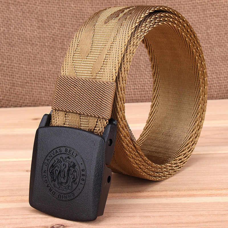 LannyQveen модный пластиковый нейлоновый ремень с автоматической пряжкой мужской армейский тактический ремень мужские военные поясные холщовые ремни высокого качества